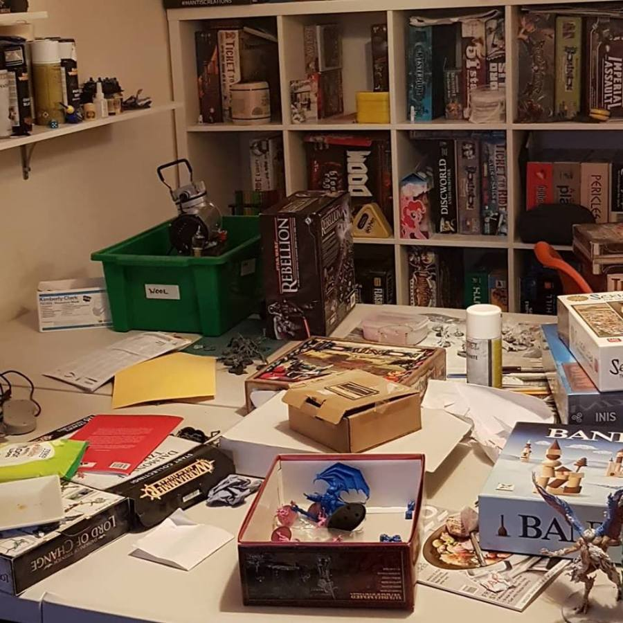 games room messy