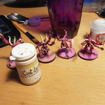 painting pink horrors - 3