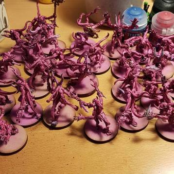 painting pink horrors