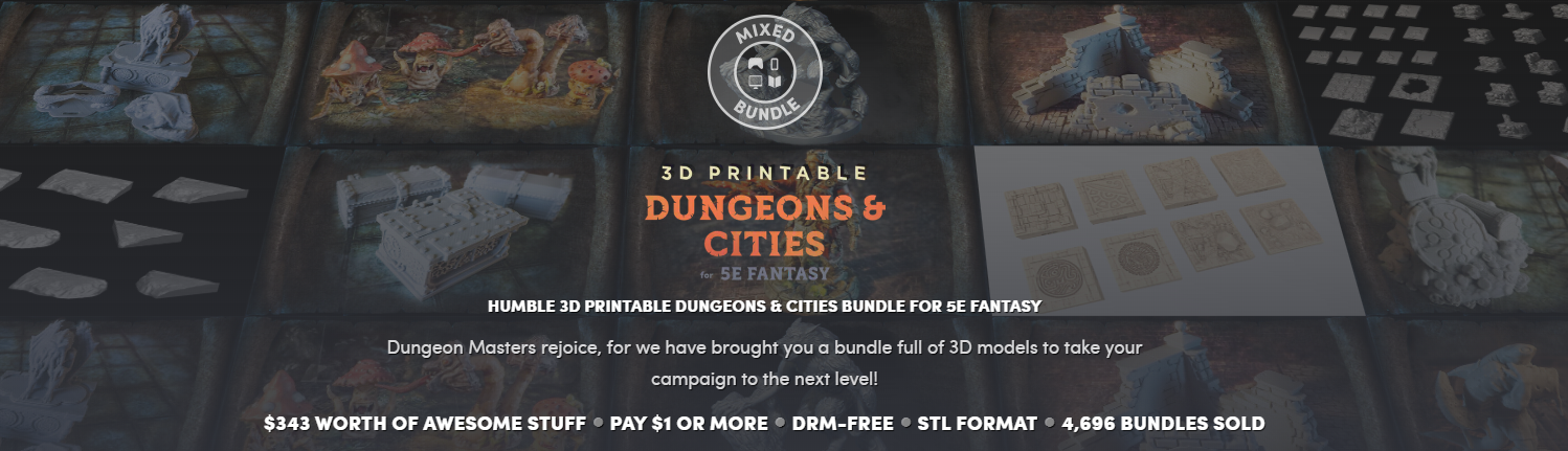photograph relating to Printable Dungeon Tiles Pdf known as Humble Offer: 3D Printable Dungeons Metropolitan areas No Rerolls